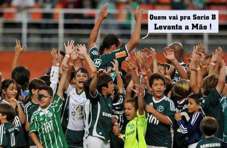 Barcos, levando o Palmeiras para segunda divisão