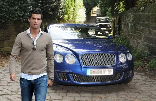 Bentley-Continental-GT-Speed-de-Cristiano-Ronaldo Conheça todos carros de Cristiano Ronaldo