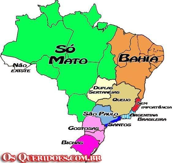 mapa Mapa do Brasil visto por Paulistas ..