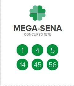 Resultado da Mega Sena   Concurso 1575  Resultado da Mega Sena   Concurso 1575
