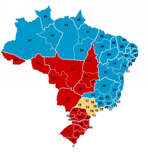 Lista de DDD | DDD do Brasil | Todos DDDs das Cidades Brasileiras