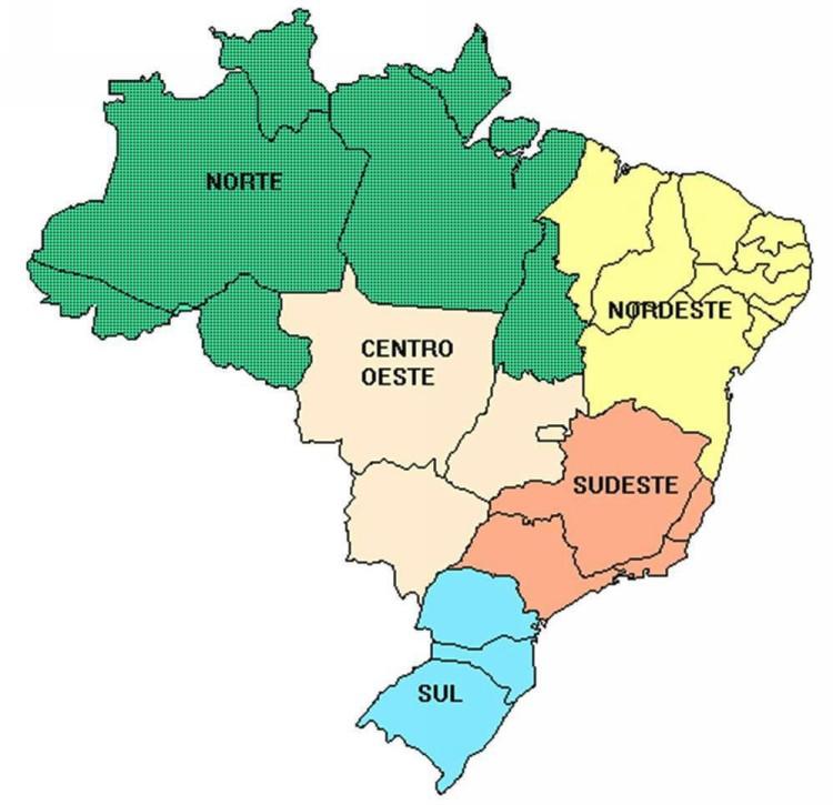 Regioes Mapa Brasil